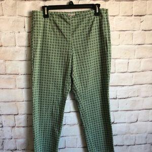 J Jill Crop Pants, Side Zipper, Petite 10